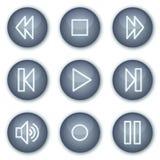 rengöringsduk för walkman för serie för knappcirkelsymboler mineralisk vektor illustrationer