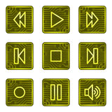 rengöringsduk för walkman för serie för symboler för knappkortelektronik Royaltyfria Bilder