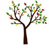 Rengöringsduk Forma av träd, rotar och gröna blad också vektor för coreldrawillustration royaltyfri illustrationer