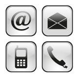 Rengöringsduk- och internetsymbolsuppsättning Arkivfoton