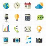 Rengöringsduk- och meddelandesymboler Arkivfoton