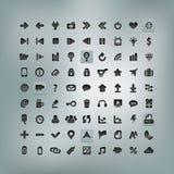 Rengöringsduk- och mobilsymbolsuppsättning Arkivfoto