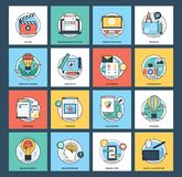 Rengöringsduk och mobilutvecklingspacke Arkivfoto