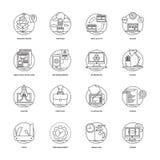 Rengöringsduk och samling för mobilutvecklingssymboler Royaltyfri Bild