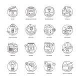 Rengöringsduk och samling 2 för mobilutvecklingssymboler Arkivfoto