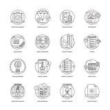 Rengöringsduk och samling 3 för mobilutvecklingssymboler Royaltyfri Fotografi