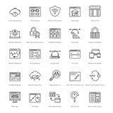 Rengöringsduk och SEO Line Vector Icons 36 Fotografering för Bildbyråer