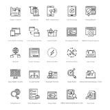 Rengöringsduk och SEO Line Vector Icons 30 Arkivbild