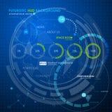 Rengöringsduk som loding den futuristiska användargränssnittet Arkivfoton