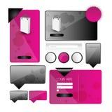 Rengöringsdukanvändargränssnittbeståndsdel vektor Fotografering för Bildbyråer