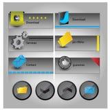Rengöringsdukanvändargränssnittbeståndsdel vektor Arkivbild