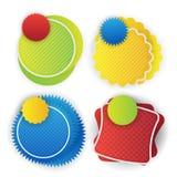 Rengöringsdukbaner, klistermärkear, anförandebubbla Fotografering för Bildbyråer