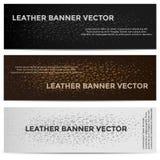 Rengöringsdukbaner med olikt kulört för lädertextur Royaltyfria Bilder
