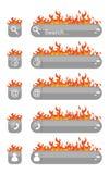 Rengöringsdukbeståndsdelbrand Arkivbild