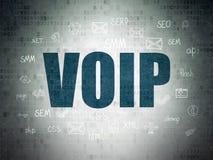 Rengöringsdukdesignbegrepp: VOIP på Digital papper Royaltyfri Fotografi