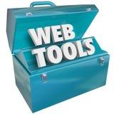 Rengöringsduken bearbetar satsen för Toolboxden online-Websitebärare vektor illustrationer