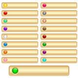 Rengöringsduken buttons guld Arkivbild