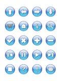 Rengöringsduken buttons symboler, tecken,   Vektor Illustrationer