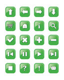 Rengöringsduken buttons symboler, tecken,   Arkivfoto