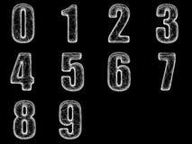 Rengöringsduken numrerar 0-9 stock illustrationer
