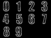 Rengöringsduken numrerar 0-9 Royaltyfria Foton