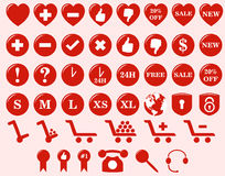 Rengöringsduken shoppar symboler Arkivfoton