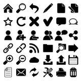 Rengöringsdukinternetsymboler Arkivbild