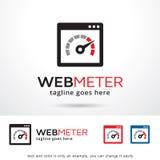 Rengöringsdukmeter Logo Template Design Vector Stock Illustrationer