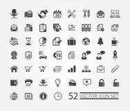 Rengöringsduksymboler för affär, finans och kommunikation Royaltyfria Bilder