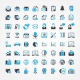 Rengöringsduksymboler för affär, finans och kommunikation Royaltyfri Fotografi