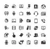 Rengöringsduksymboler för affär, finans och kommunikation Arkivbilder