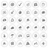 Rengöringsduksymbolsuppsättning Arkivfoto