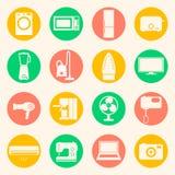 Rengöringsduksymbolsuppsättning av hem- anordningar Fotografering för Bildbyråer