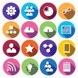Rengöringsduksymbolsuppsättning i plan design Arkivfoto