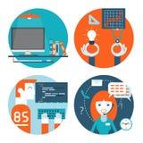 Rengöringsdukutveckling, comminication och marknadsföringslägenhet Arkivbild