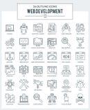 RENGÖRINGSDUKutveckling och programmerasymboler Arkivbilder