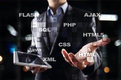 Rengöringsdukutveckling programmering Internet- och teknologibegrepp arkivfoto