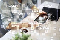 Rengöringsdukutveckling programmering Internet- och teknologibegrepp royaltyfri foto
