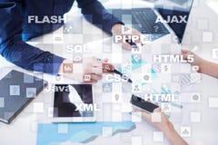 Rengöringsdukutveckling programmering Internet- och teknologibegrepp royaltyfria bilder