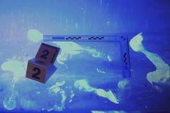 Rengjort ställe av brottet under UV ljus Royaltyfria Bilder