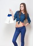 rengöringsduk för universal för tid för mall för shopping för sida för bakgrundskorthälsning Arkivfoto