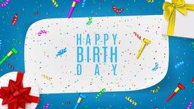 Rengöringsdukbaner för lycklig födelsedag Arkivfoton
