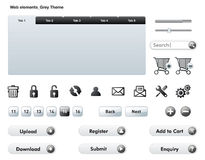 Rengöringsdukbeståndsdelar - Grey Theme Arkivfoto