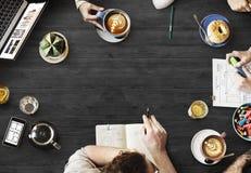 Rengöringsdukdesign Team Working Planning Website Concept Arkivfoton