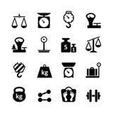 Rengöringsduksymbolsuppsättning - vikt Arkivfoto