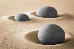 Renhet och harmoni för Zen trädgårds- i natur Arkivfoton