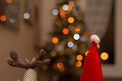 Renifer i Święty Mikołaj kukły Zdjęcie Royalty Free