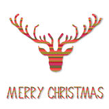 Reniferowa kartka bożonarodzeniowa Obraz Royalty Free