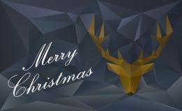 Reniferowa kartka bożonarodzeniowa Obraz Stock