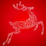 reniferowi karciani boże narodzenia Obraz Royalty Free